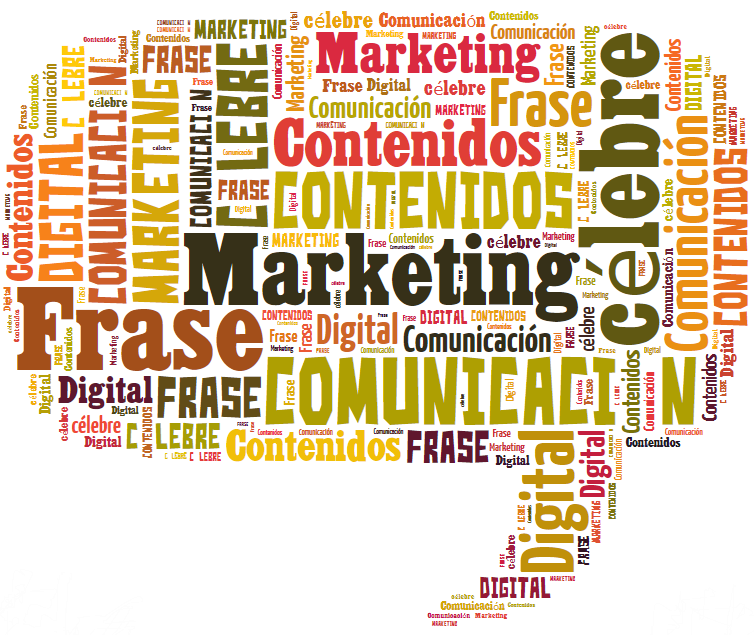 Nube de palabras, frases y marketing digital